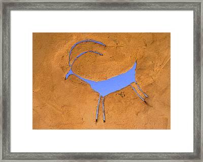 Antelope Petroglyph Framed Print by Jerry McElroy