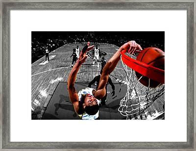 Anthony Davis Framed Print by Brian Reaves