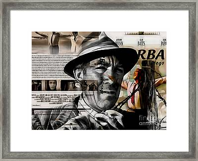 Anthony Quinn Collection Framed Print by Marvin Blaine