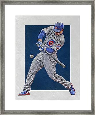 Anthony Rizzo Chicago Cubs Art 1 Framed Print by Joe Hamilton