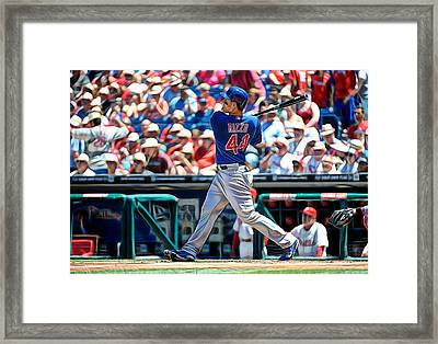 Anthony Rizzo Framed Print by Marvin Blaine
