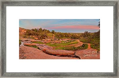 Anti-crepuscular Colors At Enchanted Rock State Natural Area - Fredericksburg Texas Hill Country Framed Print by Silvio Ligutti