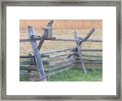 Antietam Battlefield Fence Framed Print by D Scott Fern