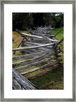 Antietam Fenceline Framed Print by Judi Quelland