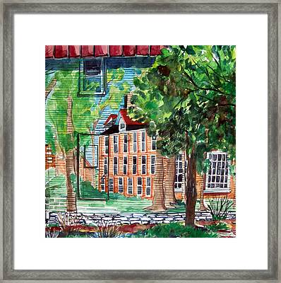 Antioch Yellow Springs Ohio Mural Framed Print by Mindy Newman