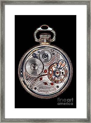 Antique Ball Railroad Watch Movement  Framed Print by Olivier Le Queinec