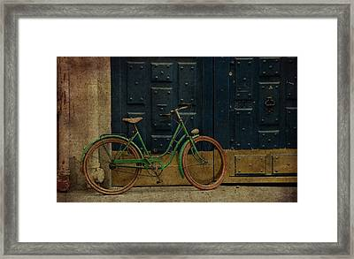 Antique Bicycle 1c Framed Print by Andrew Fare