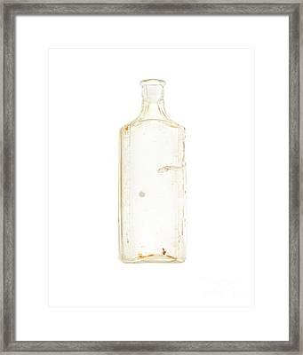 Antique Bottle Framed Print by Jennifer Booher