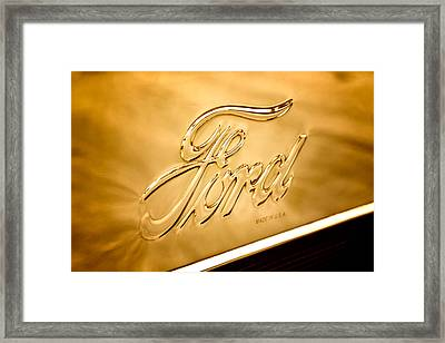 Antique Brass Framed Print by Caitlyn  Grasso