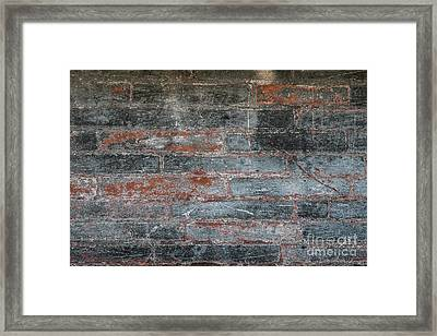 Antique Brick Wall Framed Print by Elena Elisseeva