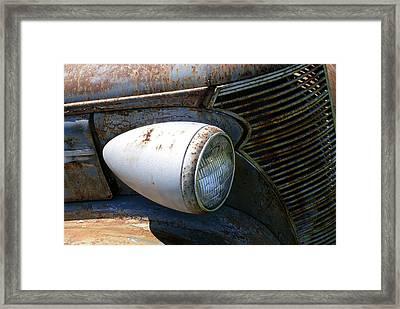 Antique Car Headlight Framed Print by Douglas Barnett