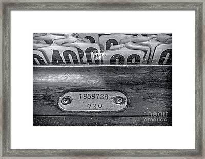 Antique Cash Register 2 Framed Print by James Aiken