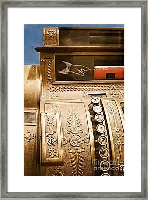 Antique Cash Register Framed Print by Ella Kaye Dickey
