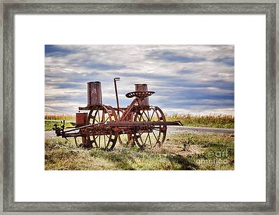Antique Corn Planter Framed Print by Sharon McConnell