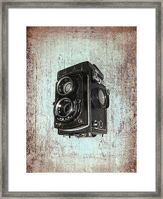 Antique Dual Lens Camera Framed Print by Daniel Hagerman