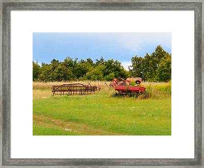 Antique Farm Equipment 2 Framed Print by Lanjee Chee