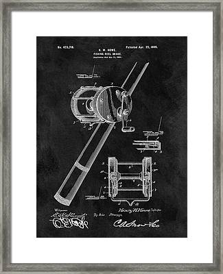 Antique Fishing Reel Patent Framed Print by Dan Sproul