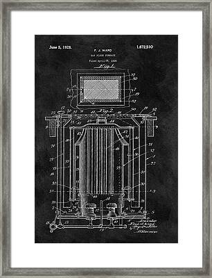 Antique Furnace Patent Framed Print by Dan Sproul