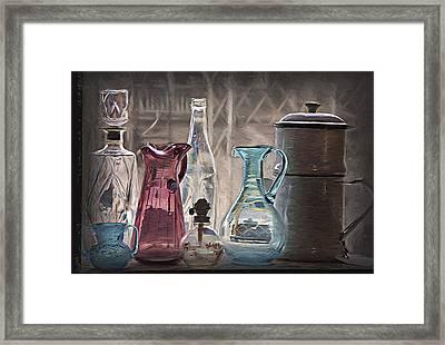 Antique Glassware Framed Print by Steve Ohlsen