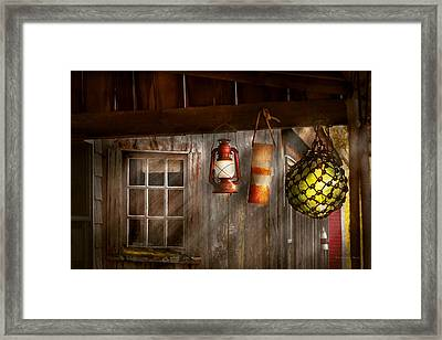 Antique - Hanging Around Framed Print by Mike Savad