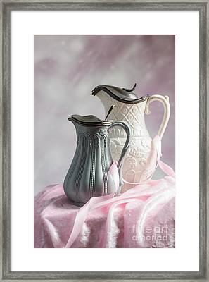 Antique Jugs Framed Print by Amanda Elwell