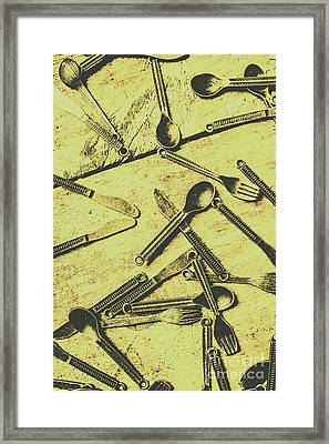 Antique Kitchen Setting Framed Print by Jorgo Photography - Wall Art Gallery