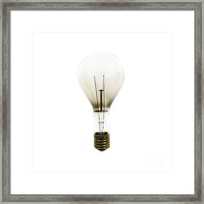 Antique Lightbulb Framed Print by Jennifer Booher