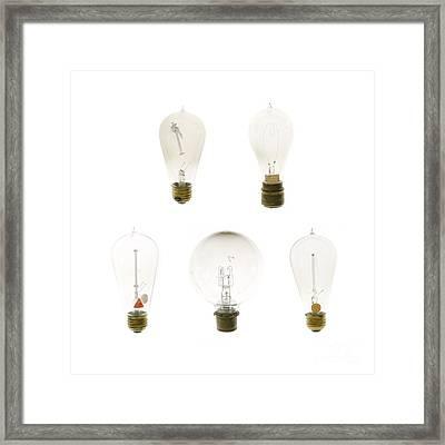 Antique Lightbulbs Framed Print by Jennifer Booher