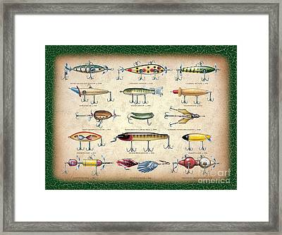 Antique Lures Panel Framed Print by JQ Licensing