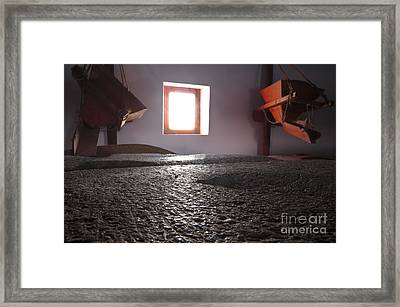 Antique Mill Stone Discs Framed Print by Angelo DeVal