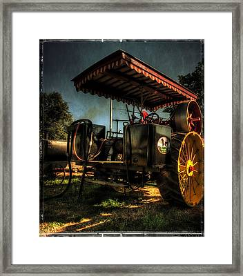 Antique Powerland Museum Tractor Framed Print by Thom Zehrfeld
