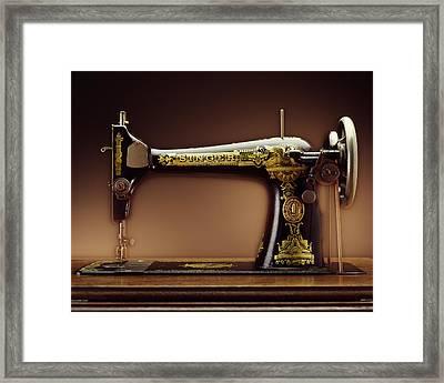 Antique Singer Sewing Machine Framed Print by Kelley King