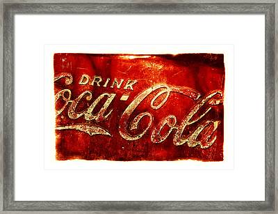 Antique Soda Cooler 2a Framed Print by Stephen Anderson