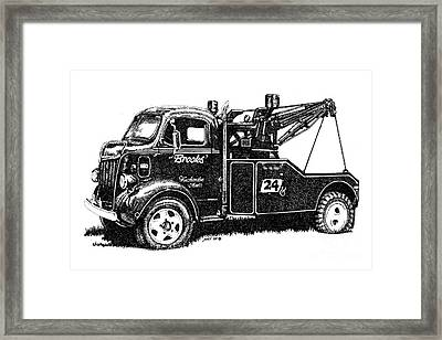 Antique Tow Truck Framed Print by Sheryl Unwin