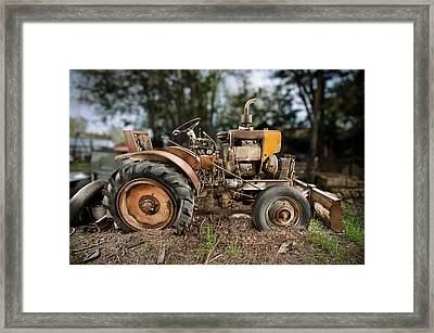 Antique Tractor Framed Print by Yo Pedro