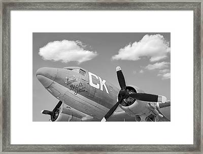 Antique War Plane Framed Print by Steven  Michael