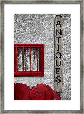 Antiques Found Here Framed Print by Toni Hopper