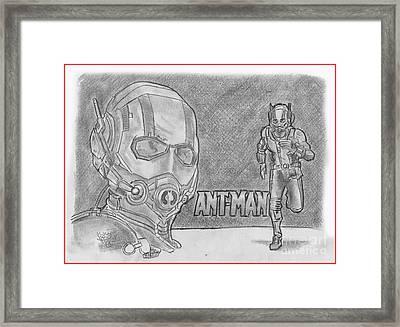 Antman Framed Print by Chris DelVecchio