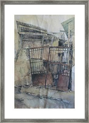 Anton Katolikos Str. Framed Print by Anastasia Logvinenko