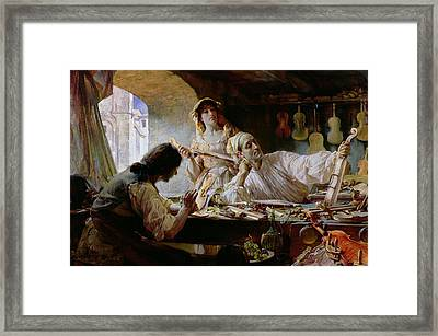 Antonio Stradivari Framed Print by Edgar Bundy