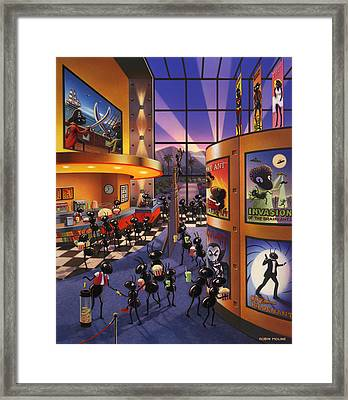 Ants At The Movie Theatre Framed Print by Robin Moline