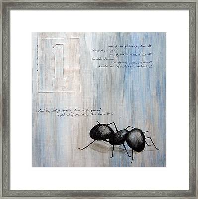 Ants Marching 1 Framed Print by Kristin Llamas