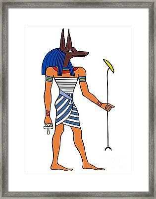 Anubis Framed Print by Michal Boubin