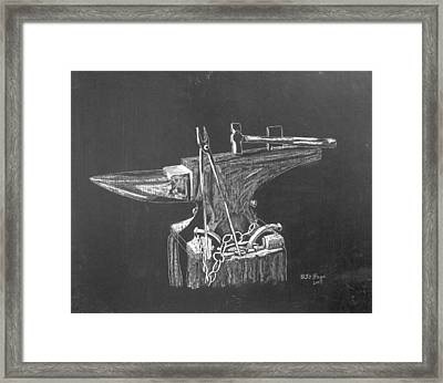 Anvil Framed Print by Richard Le Page