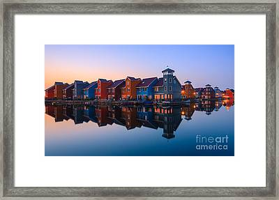 Any Colour You Like - Reitdiephaven - Netherlands Framed Print by Henk Meijer Photography
