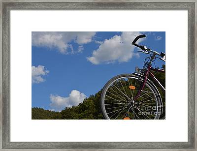 Anybody Seen My Bike Framed Print by Eva Maria Nova