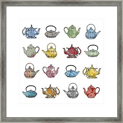Anyone For Tea Framed Print by Sarah Hough