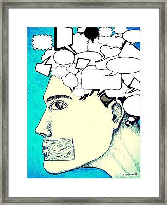 Anything You Say And Think Will Be Used Against You Framed Print by Paulo Zerbato