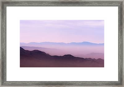 Anza-borrego Blue Ridge Framed Print by Joseph Smith