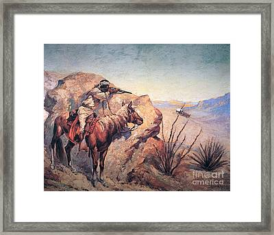 Apache Ambush Framed Print by Frederic Remington